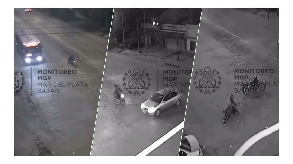 VIDEO: Manejaba borracho una moto, chocó y mató a su acompañante