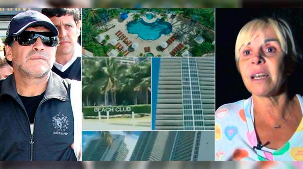 Claudia Villafañe derrotó a Diego Maradona en la causa de las propiedades de Miami