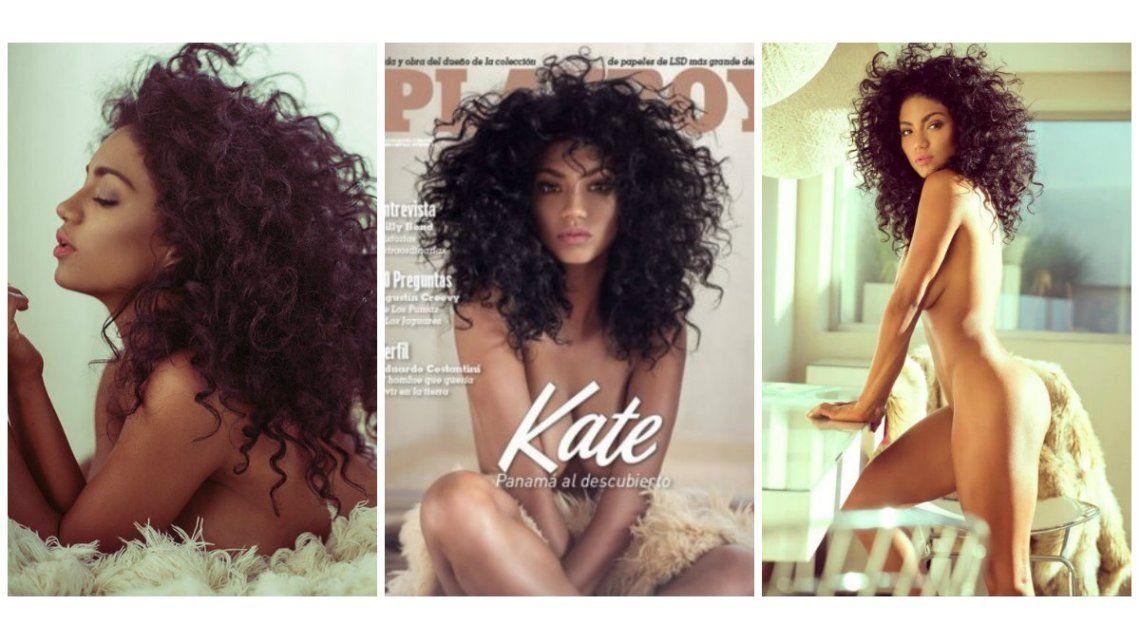 Kate Rodríguez, la bailarina panameña de ShowMatch, desnuda en una producción para Playboy