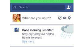 Facebook prueba alertas meteorológicas