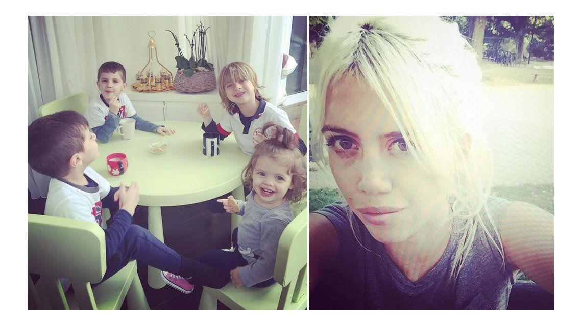 El reencuentro de Wanda Nara con sus hijos