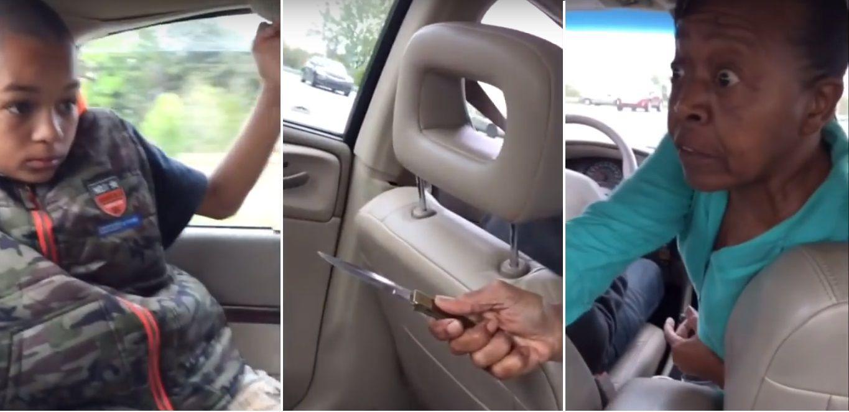 Terapia alternativa: amenaza a su nieto con un cuchillo para que se calle la boca