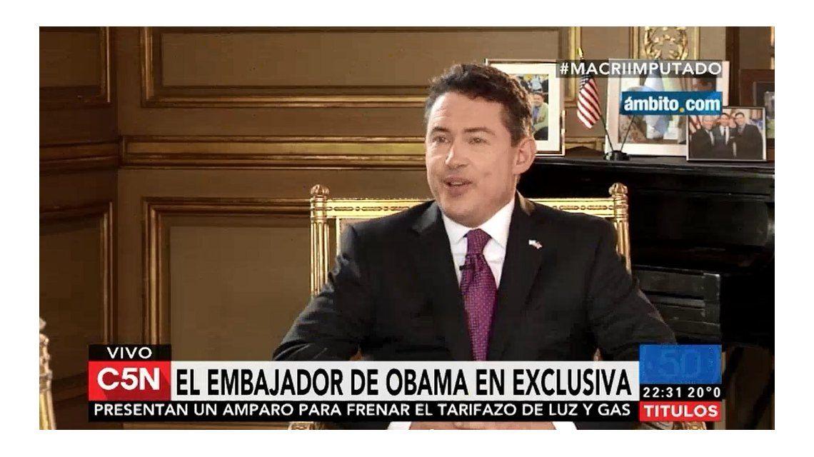 El embajador de Estados Unidos: Tener offshore no es necesariamente ilegal