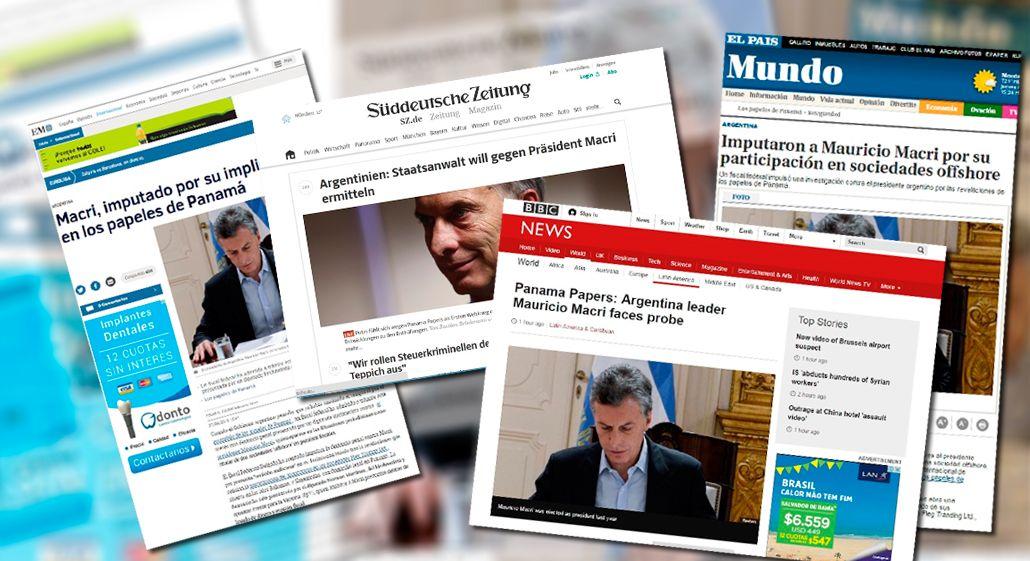 Medios de todo el mundo se hicieron eco de la imputación a Mauricio Macri