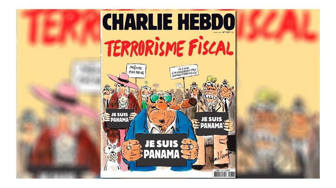 Charlie Hebdo lo hizo de nuevo: dedicó su tapa a los #PanamaPapers