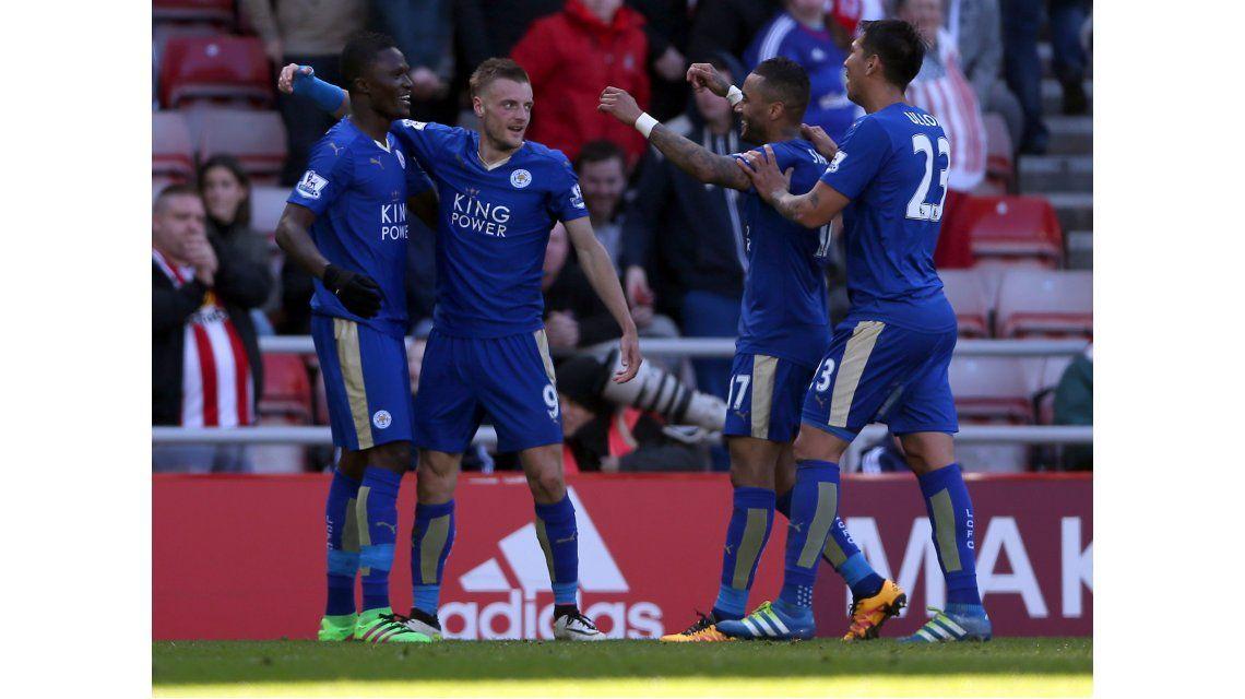 El Leicester le ganó al Sunderland y está cada vez más cerca de ser campeón