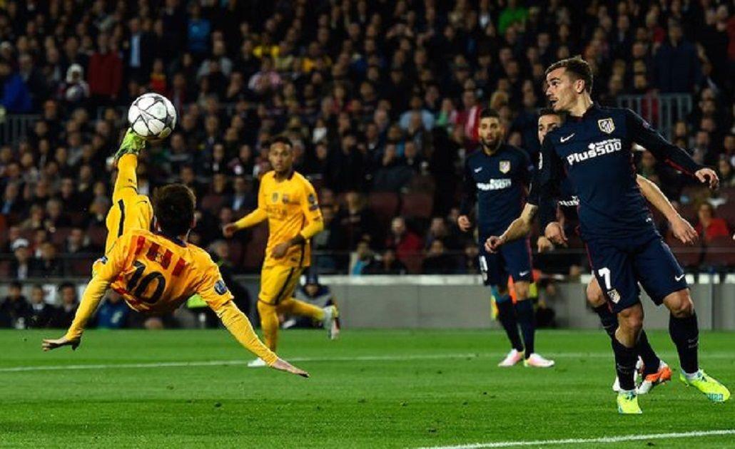 Merecía ser gol: la increíble chilena de Messi que no entró ante el Atlético Madrid