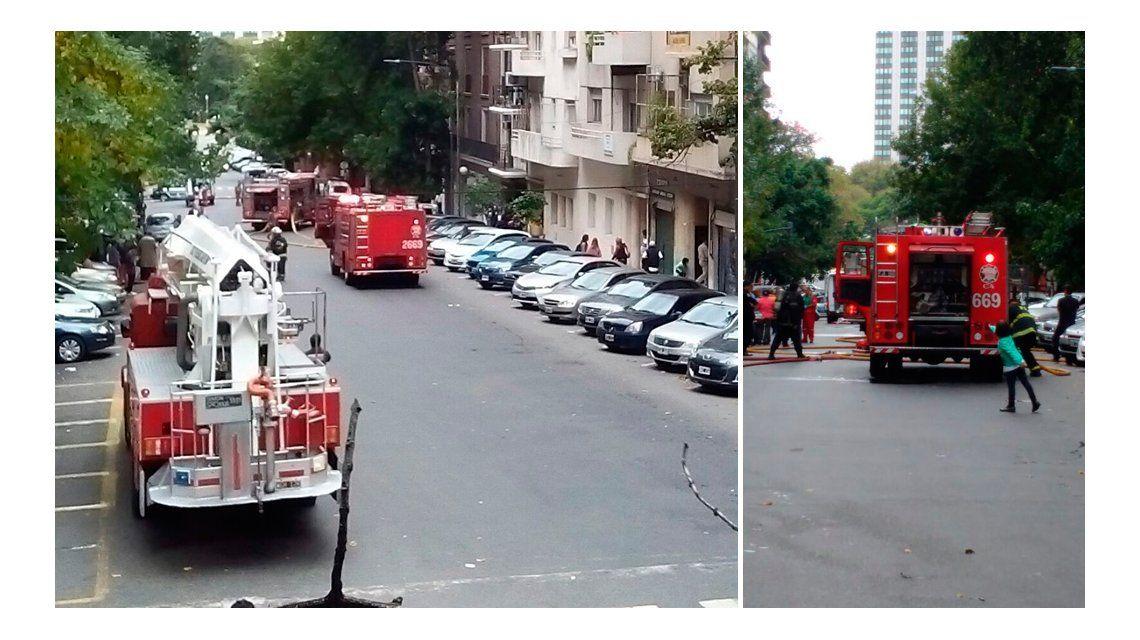 Susto en Retiro por el incendio de un departamento: dos heridos