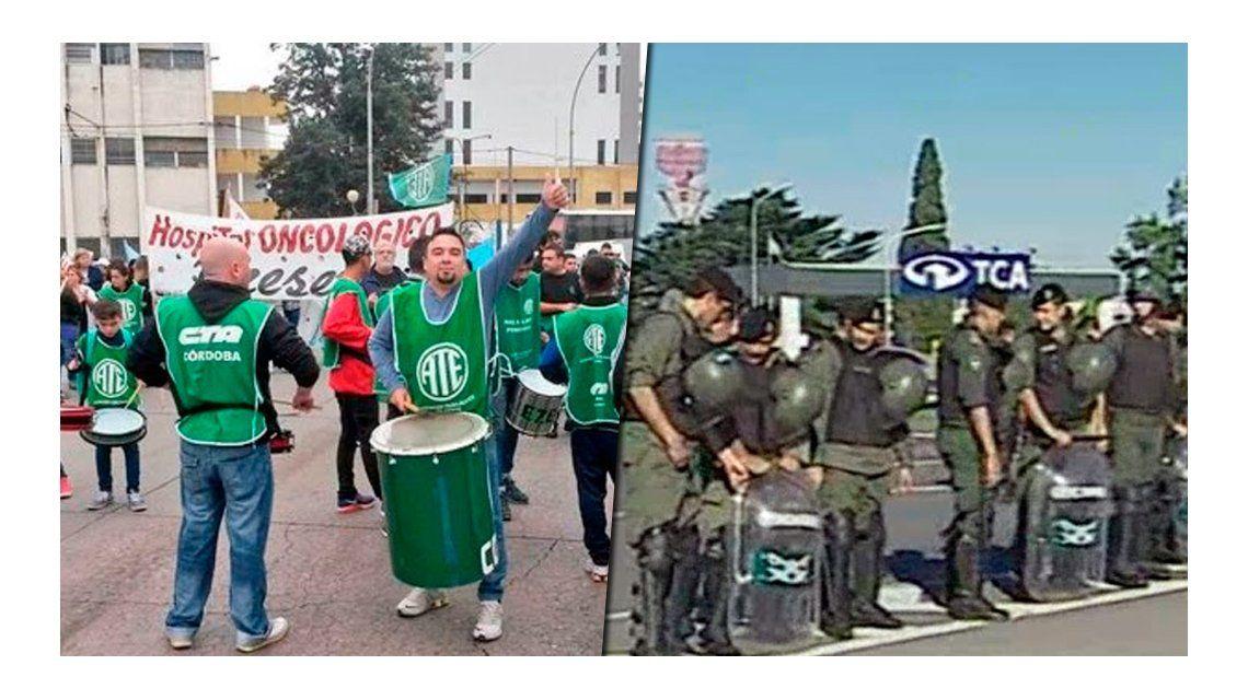 Tensión en la Riccheri por protesta de ATE: fuerte operativo de Gendarmería