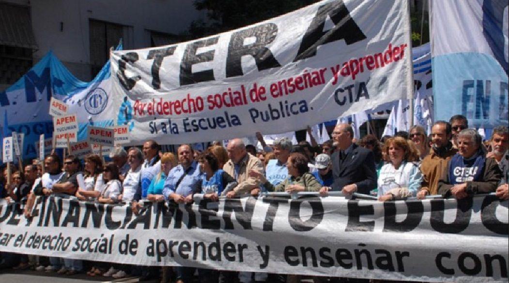Ctera anunció un paro nacional de docentes para el 24 de agosto