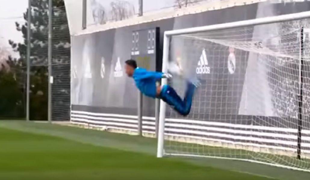 VIDEO: El arquero del Real Madrid hizo el Escorpión