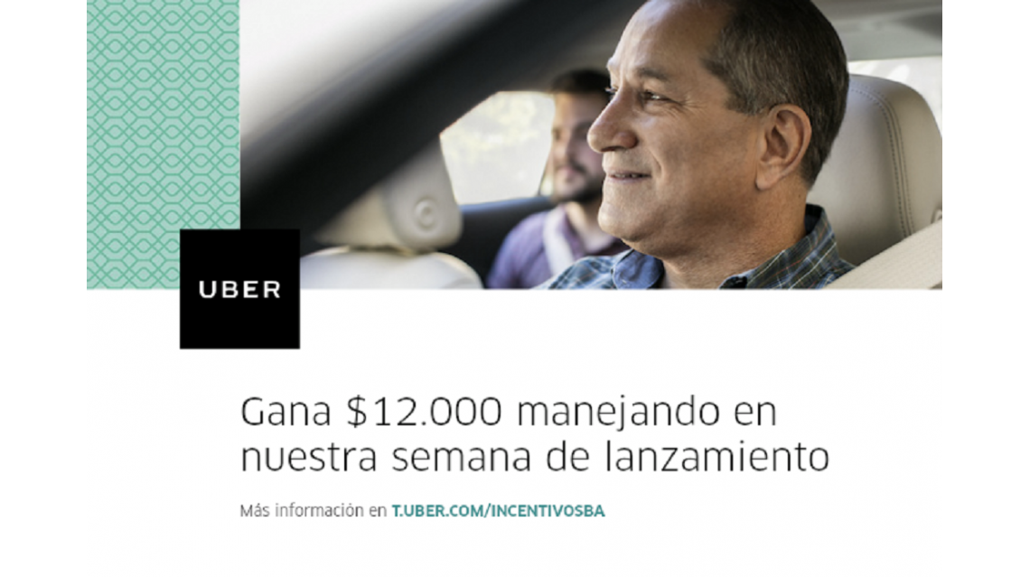 Una oferta tentadora: Uber promete una ganancia de $12.000 por semana