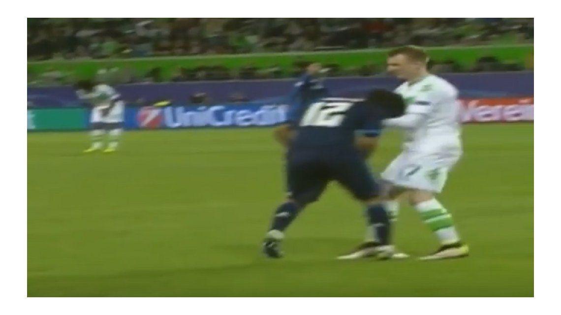 Patético: mirá la insólita simulación de un brasileño del Real Madrid
