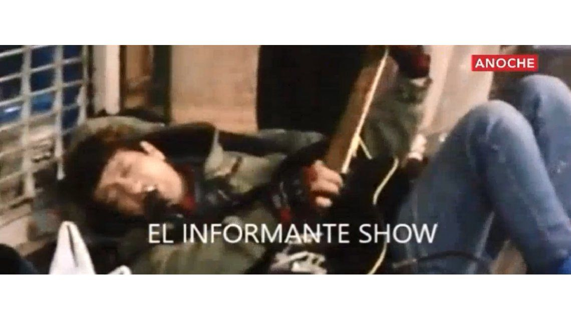 Pity callejero: el ex Viejas Locas tocó a la gorra en la avenida Corrientes