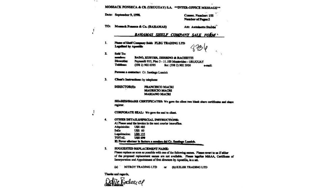 Panamá Papers: éstos son los documentos que complicarían a Mauricio Macri