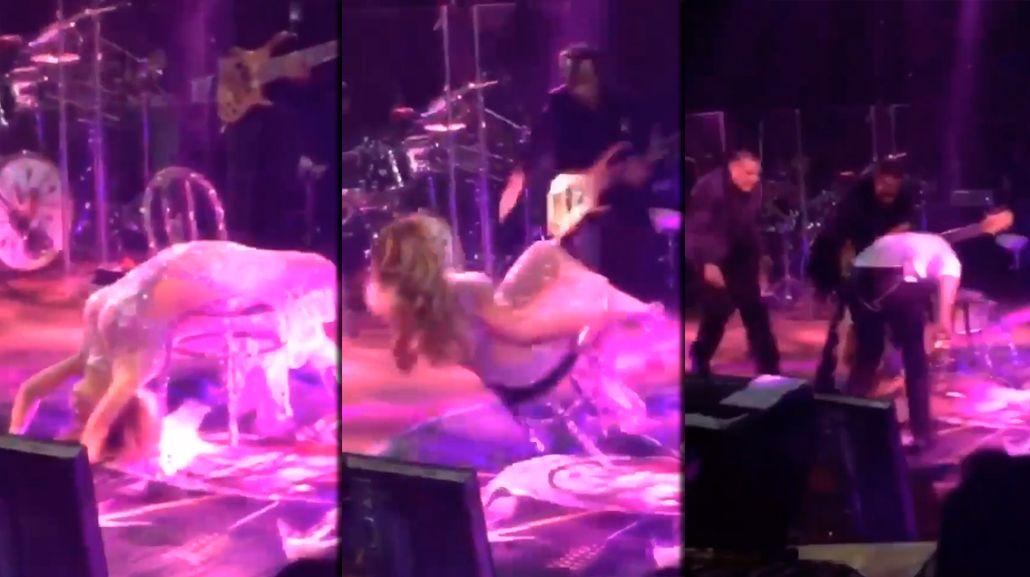 La terrible caída de Gloria Trevi durante un show