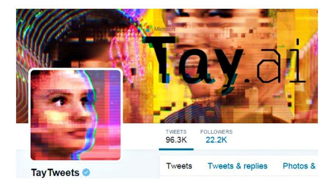 Microsoft saca de nuevo de las redes sociales a Tay, su usuario robótico