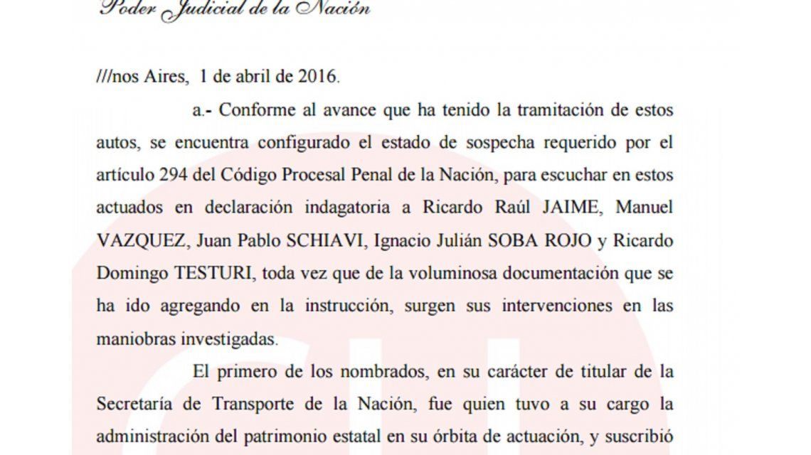 La orden de detención de Ricardo Jaime
