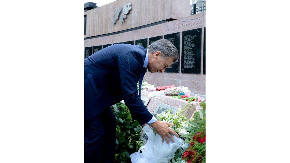 Mauricio Macri participó del homenaje a los ex combatientes