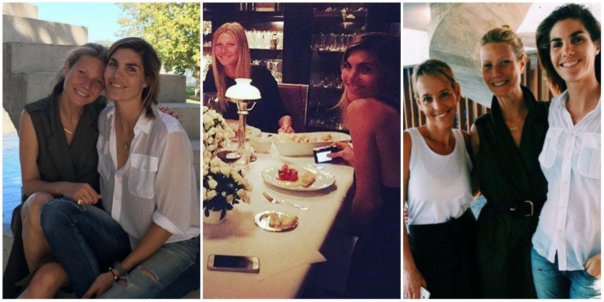 Gwyneth Paltrow, junto a la modelo Delfina Blaquier y Jimena Monteverde en Buenos Aires