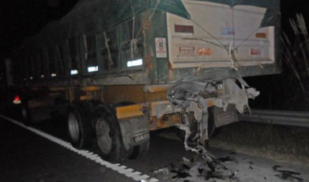 Así fue el nuevo choque de Chano contra un camión