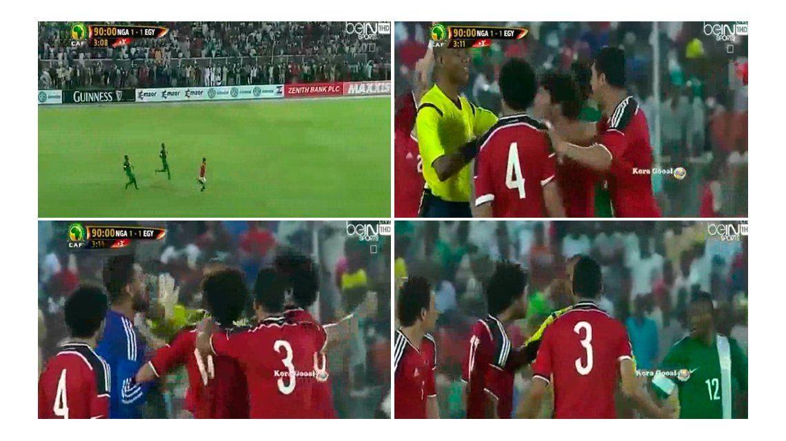 Un jugador quedó mano a mano...¡pero el árbitro terminó el partido!