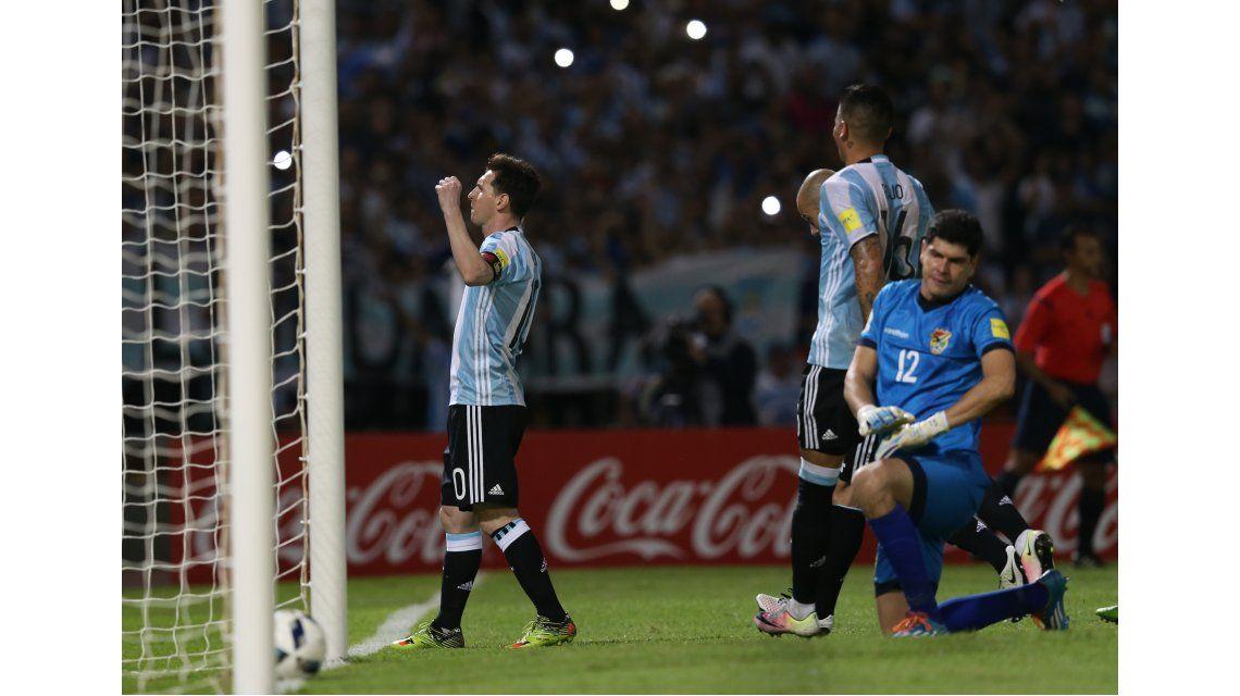 Con el tanto ante Bolivia, Messi llegó a los 50 goles con la Selección