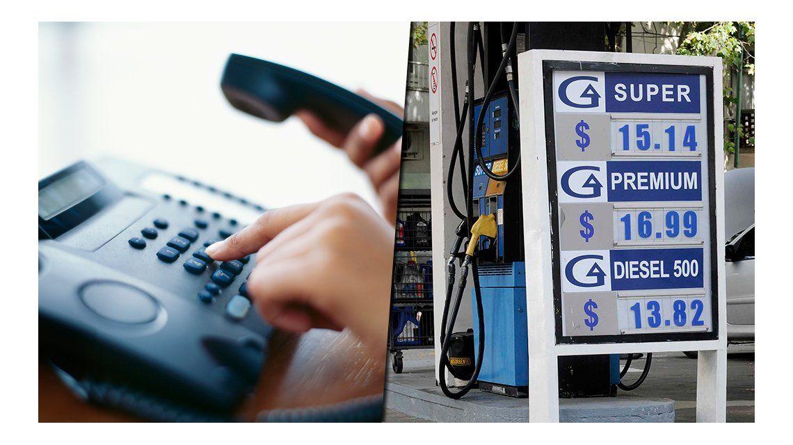 Nuevo golpe al bolsillo: la telefonía fija y las naftas subirán en abril