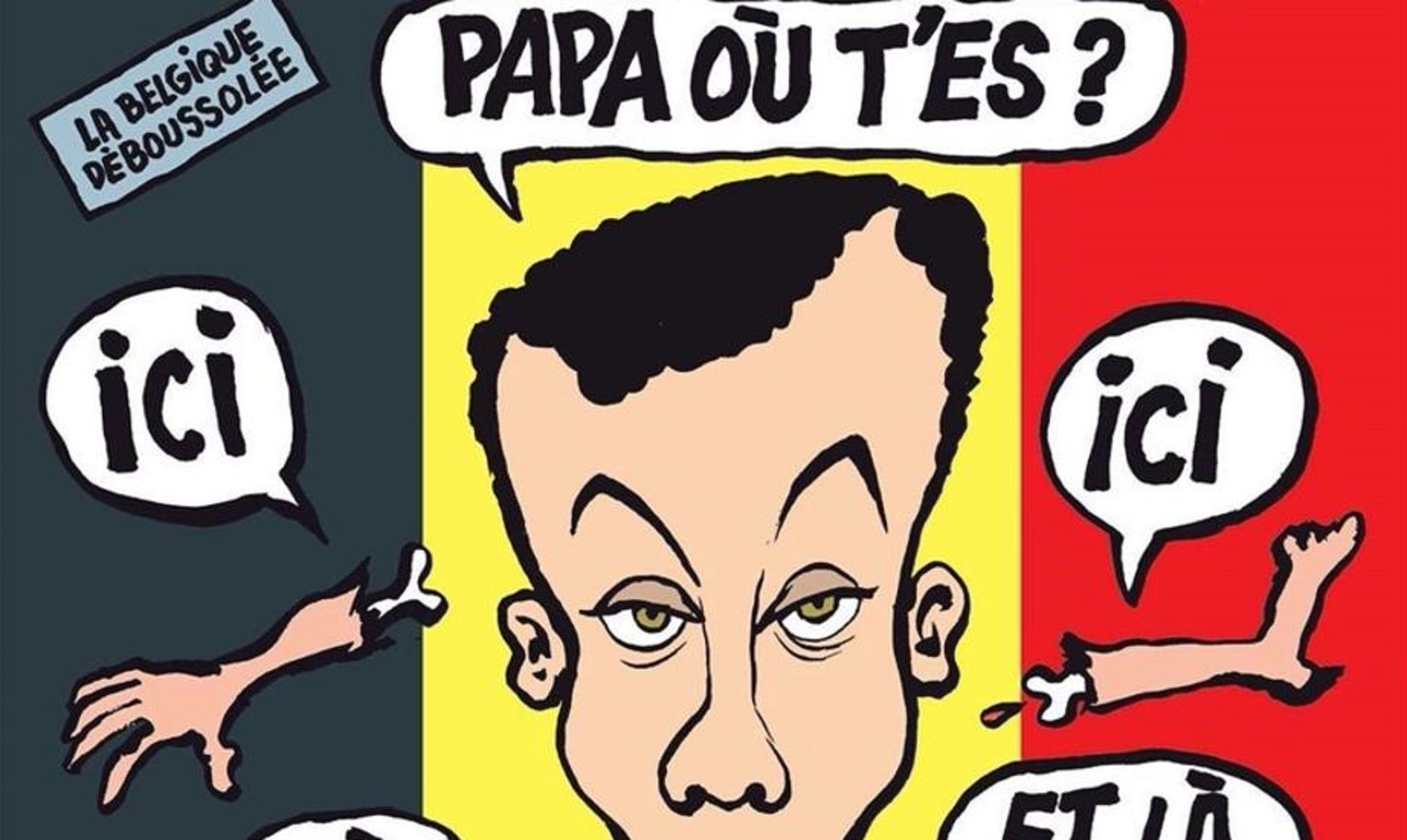 Charlie Hebdo desata polémica con una portada que se burla de los atentados en Bruselas