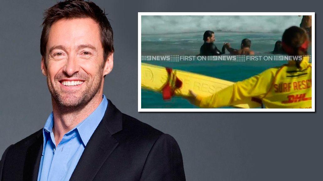 Hugh Jackman salvó a su hijo y a otras personas de ahogarse en el mar