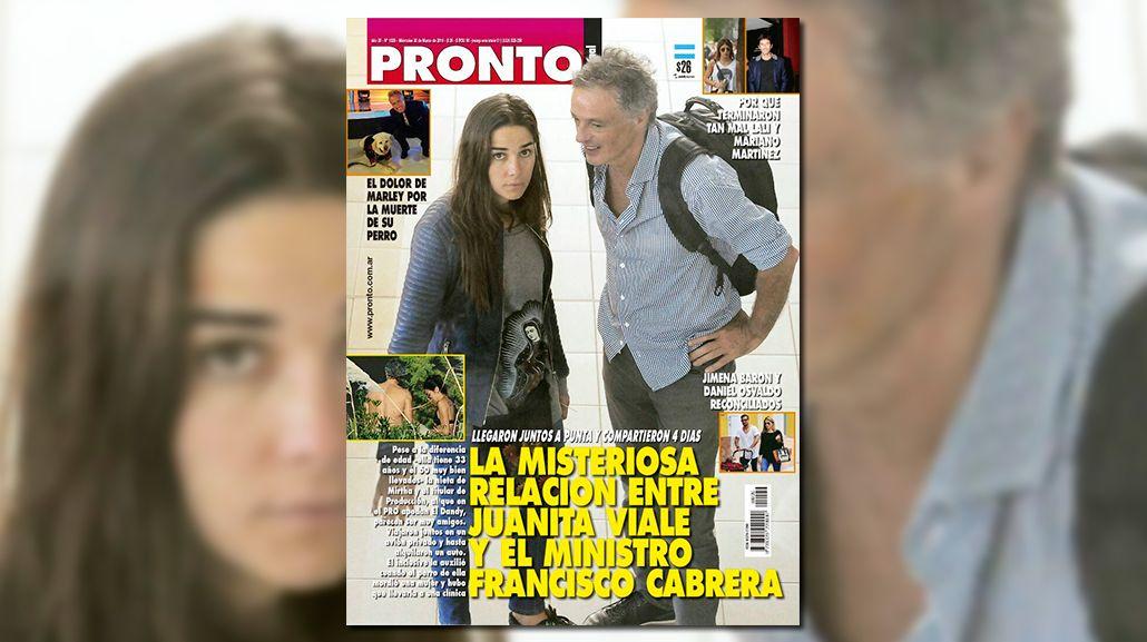 Toda la intimidad del viaje secreto de Juana Viale y el ministro de Producción, Francisco Cabrera
