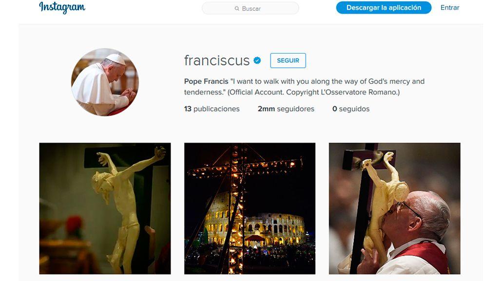 ¡Récord!: en una semana, Francisco superó los 2.000.000 de seguidores en Instagram