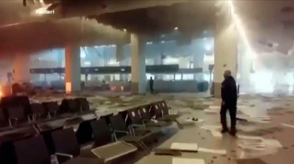Difunden un nuevo video del aeropuerto de Bruselas tras los ataques