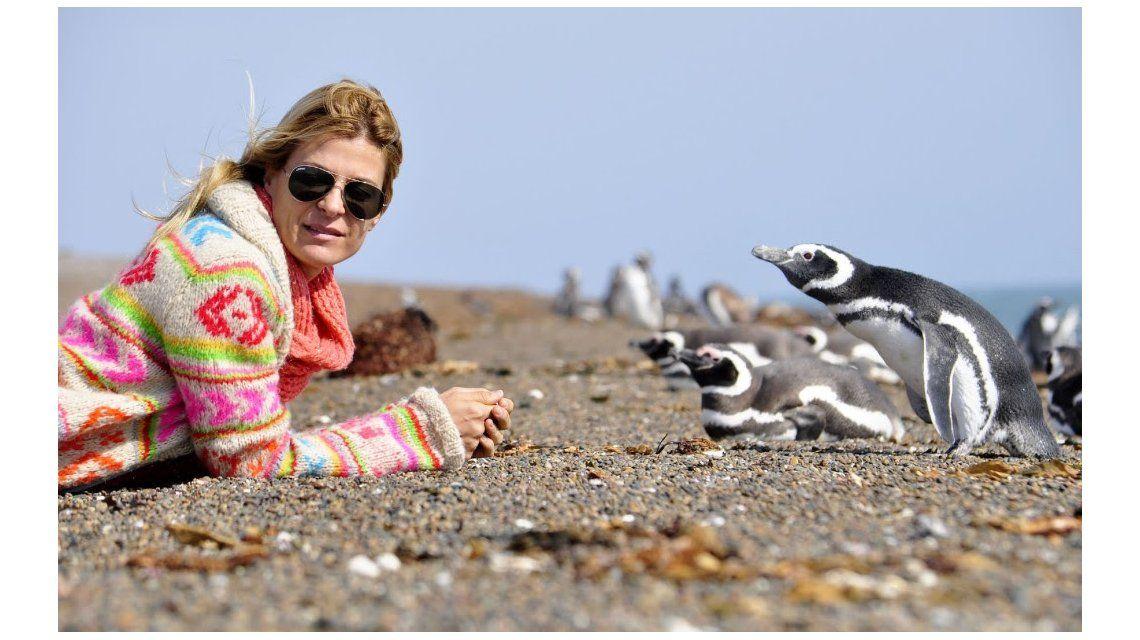 Eugenia Tobal eligió unas vacaciones a pura naturaleza en Puerto Madryn