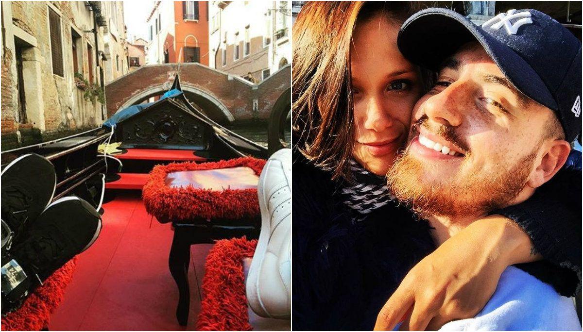 Federico Bal y Barbie Vélez, enamorados en Venecia: La dueña de mi corazón