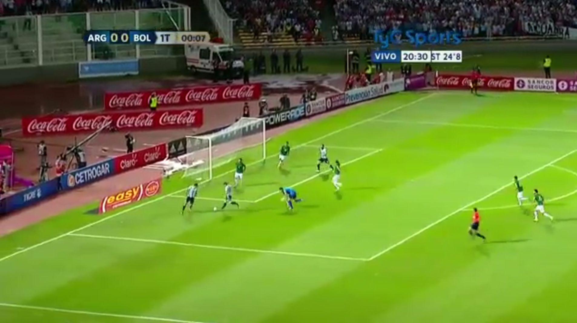 Argentina tuvo su primera chance de gol ante Bolivia... ¡a los 9 segundos!