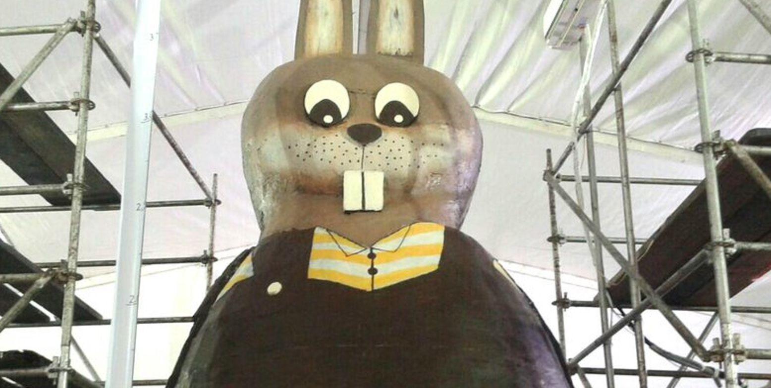 Miramar tuvo el conejo de chocolate de Pascuas más grande del mundo
