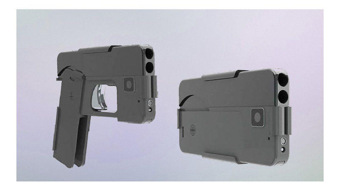 La pistola con forma de smartphone que pretenden vender en Estados Unidos
