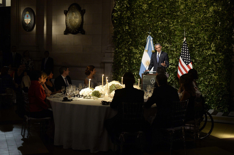 Cena de honor en el CCK: ¿Quiénes compartieron la mesa principal con Obama?