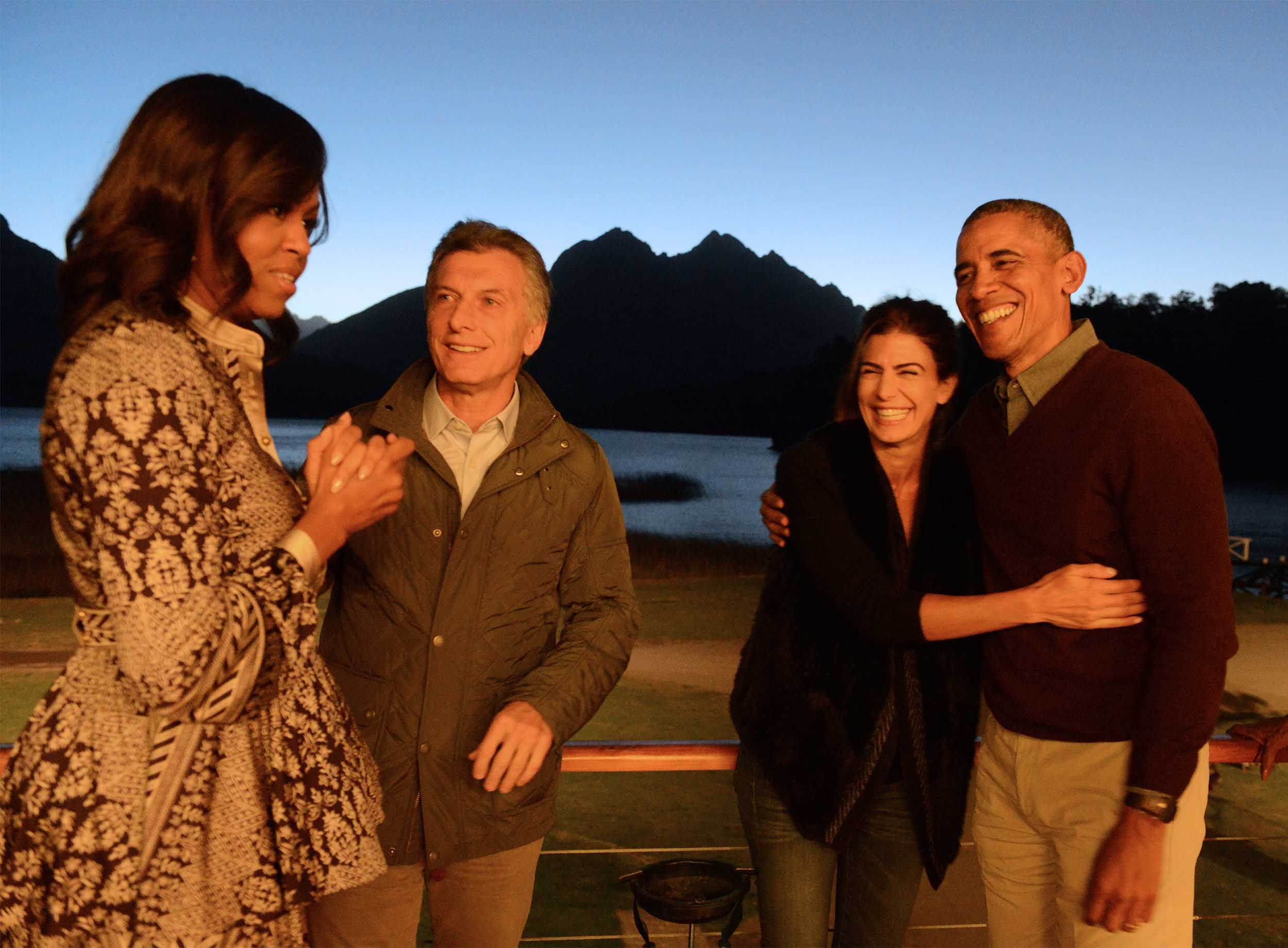 Macri despidió a Obama, que recorrió Bariloche