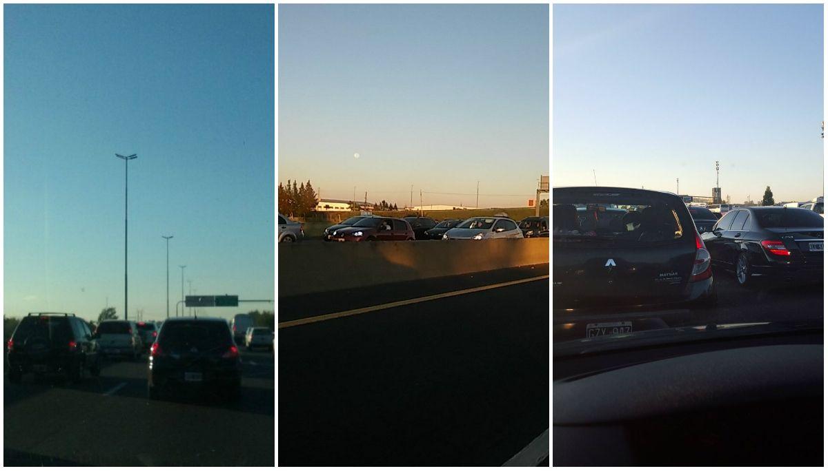 A paso de hombre: la autopista Bs.As.-La Plata, colapsada por el éxodo de Pascua