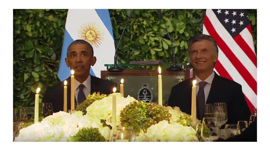 Los discursos de Obama y Macri en la cena de honor en el CCK