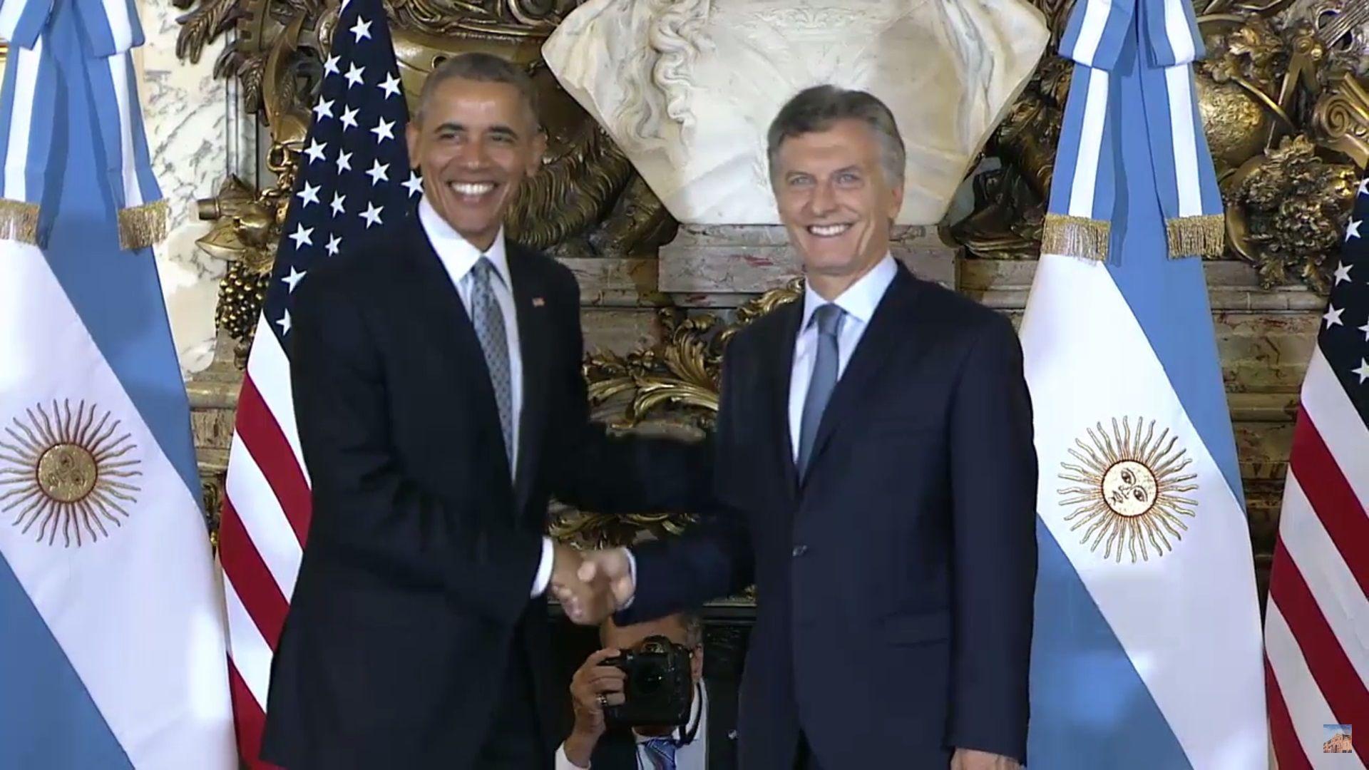 Obama y Macri, juntos en la Rosada