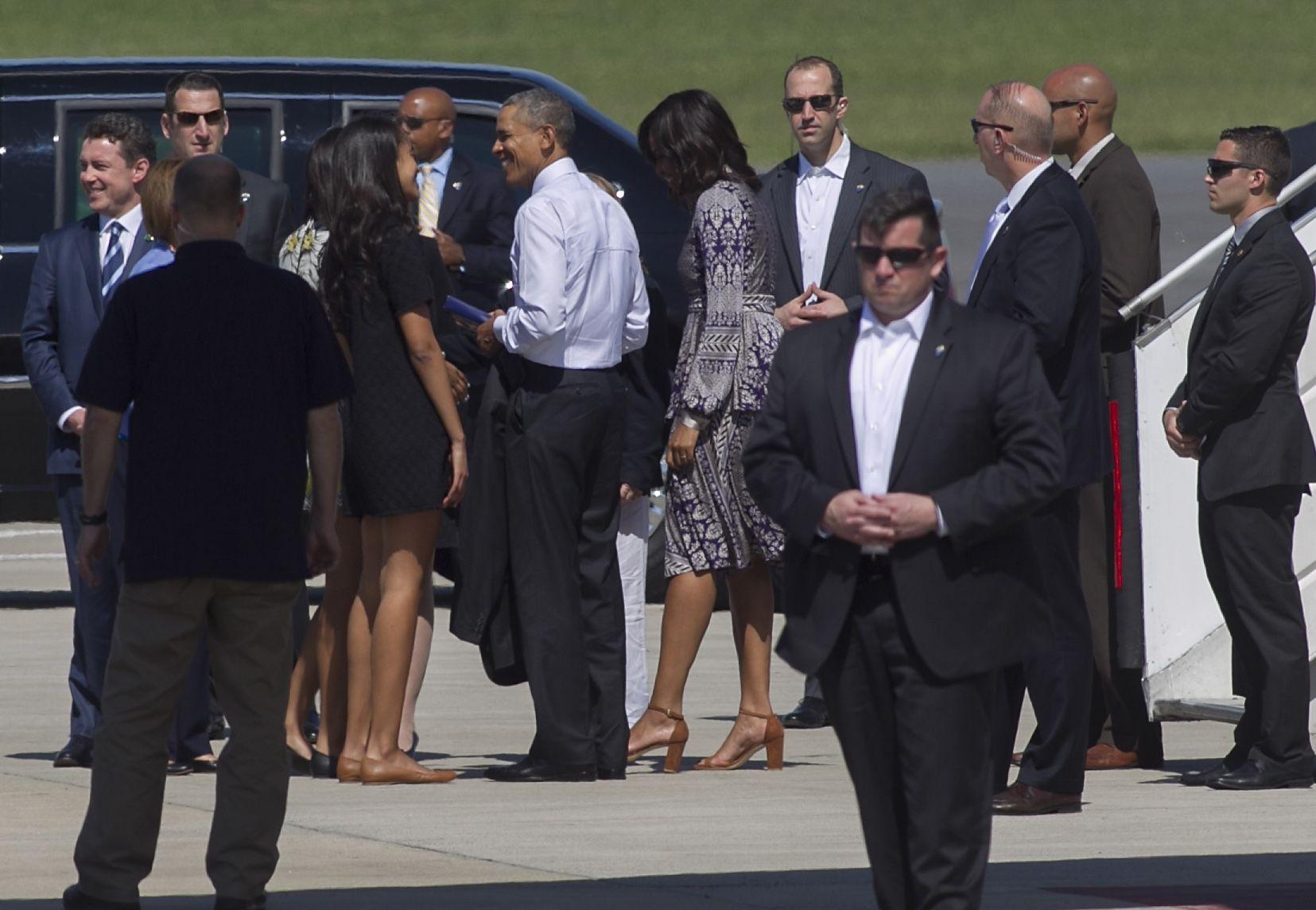 Obama llegó a Bariloche con su familia para descansar en el hotel Llao-Llao