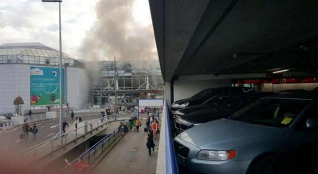 Pánico en Bruselas: cierran el aeropuerto por dos explosiones