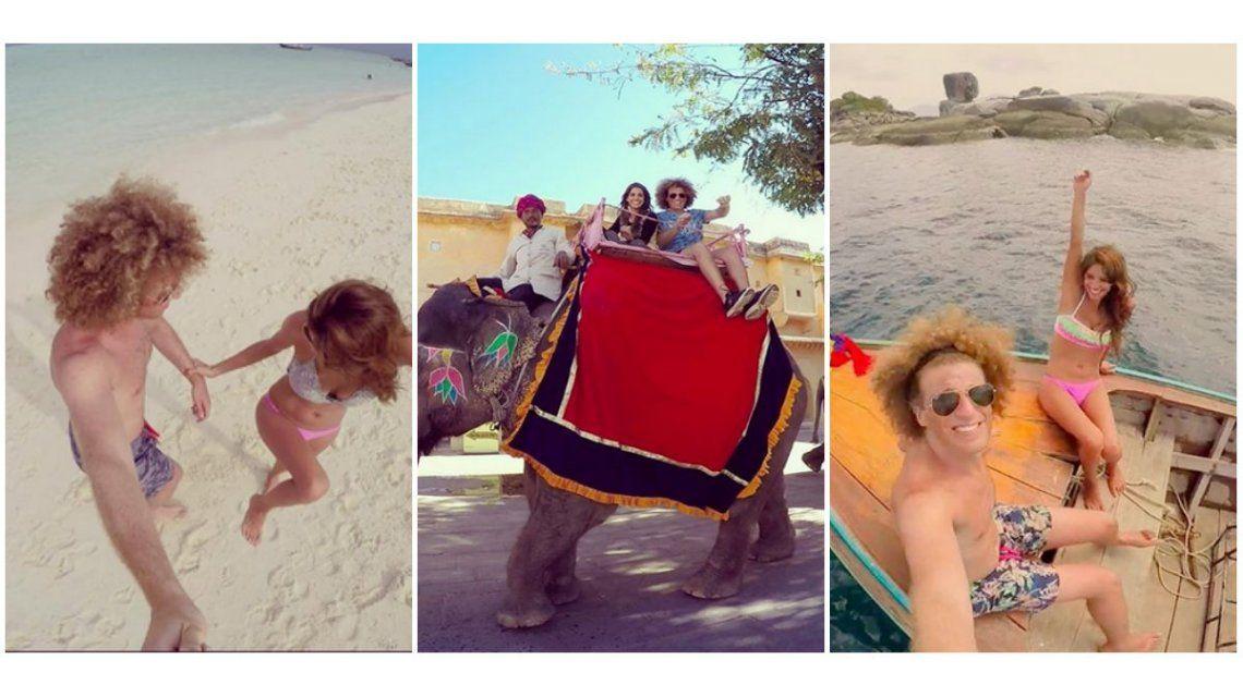 El álbum de fotos de las vacaciones de Rulo y su novia Gabriela Sari