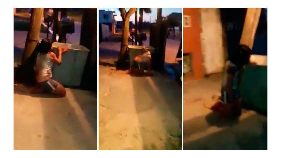 Apareció otro video de la brutal golpiza que recibió una joven en Laferrere