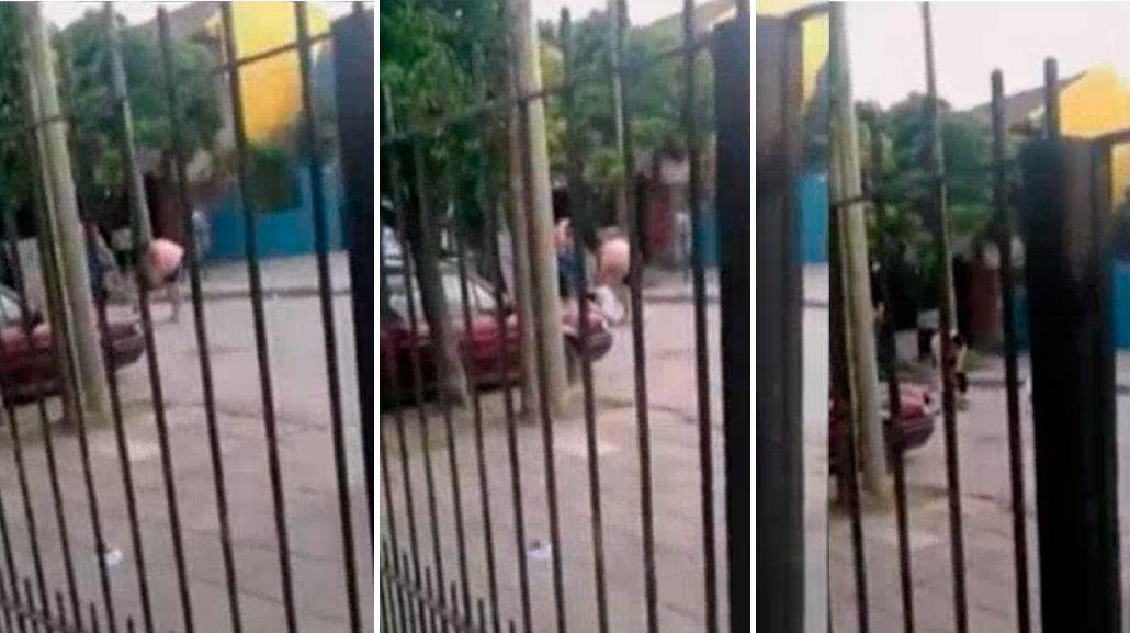 Video del horror: discutieron, le dio una brutal golpiza y la mató