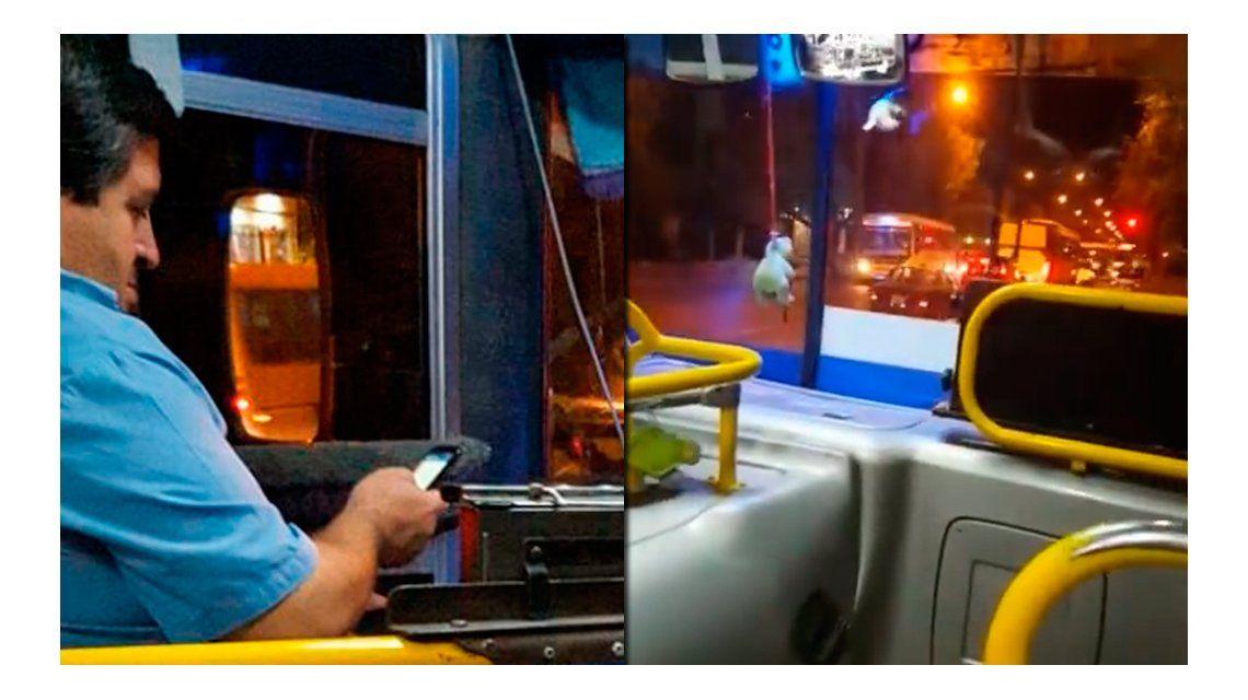 VIDEO: Un chofer fue escrachado usando el celular mientras manejaba