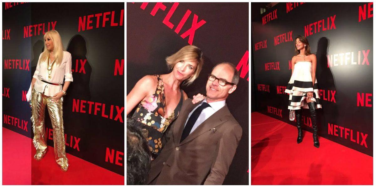 Famosos nacionales e internacionales en el evento de Netflix